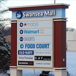 Swansea Mall including, Macy's, Sears, Walmart, Yankee Candle, Christopher Banks, Lane Bryant, as well as jewelry stores and nail and hair salons, Ruby Tuesday and food court. Oakwood residents walk to the mall.